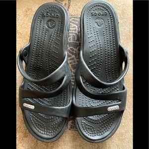 Crocs woman's black sandals size 6